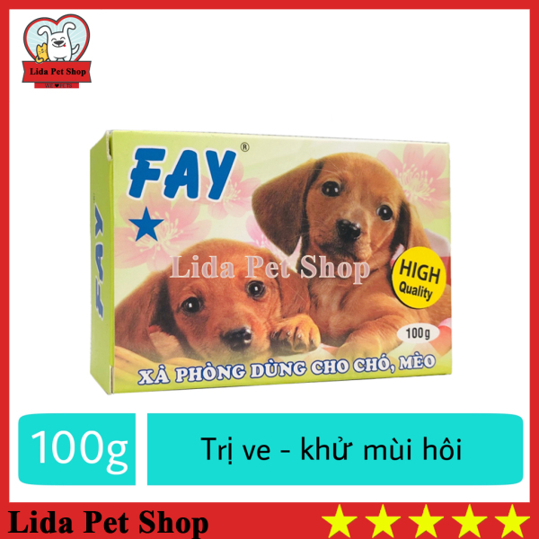 HN- Xà bông tắm diệt ve ghẻ, bọ chét chó mèo - Fay 1 sao 100g - Lida Pet Shop