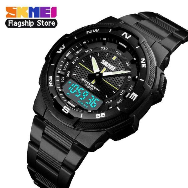 [HCM]Đồng hồ thể thao SKMEI 1370 cho nam đồng hồ đeo tay điện tử đa năng bằng thép không gỉ chống nước thời trang thường ngày