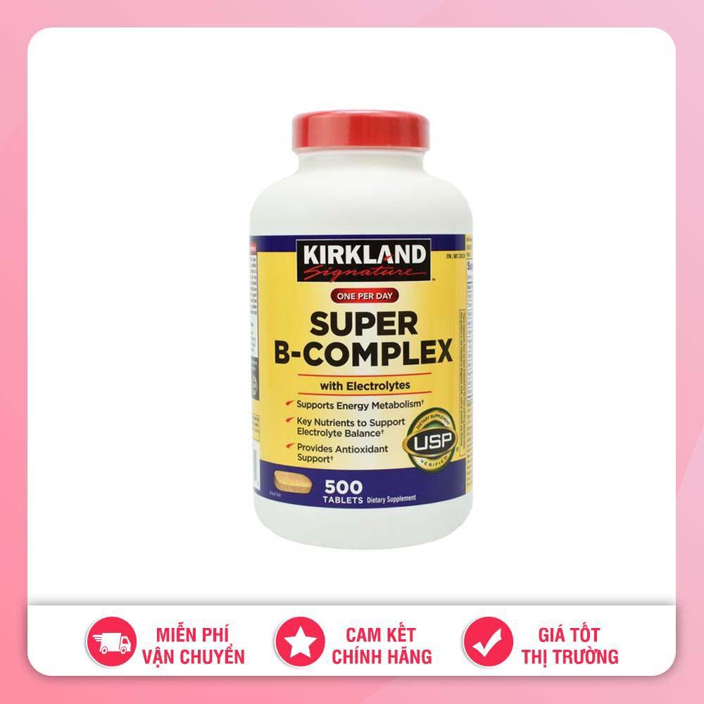 VIÊN UỐNG BỔ SUNG VITAMIN TỔNG HỢP KIRKLAND SUPER B-COMPLEX WITH ELECTROLYTES MỸ (500 VIÊN) nhập khẩu