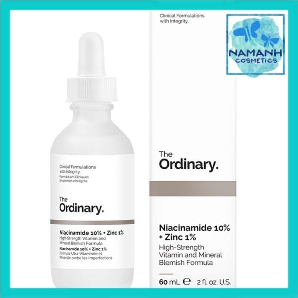 [60ml] Serum cho da mụn, giảm thâm, cân bằng nhờn The Ordinary Niacinamide 10% + Zinc 1%
