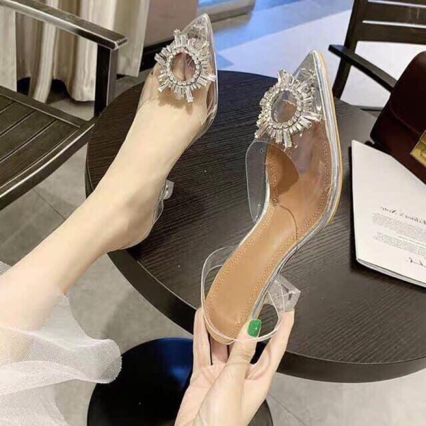 Sandal cao gót  hoa đá giá rẻ