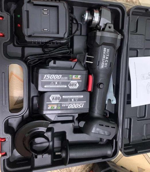 Máy mài pin HiTaChi Máy cắt dùng pin 88V kèm 2 pin