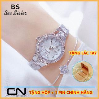 Đồng hồ nữ dây kim loại - Bs Bee Sister 1310 nhỏ xinh- dây lắc kim loại đính đá sang trọng - chống thấm nước thumbnail