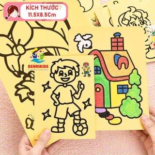 Bộ 5 Tranh Cát Cho Bé, Đồ Chơi Thông Minh, Nâng Cao Sự Phối Hợp Giữa Tay Và Mắt, Hoàn Thành Tranh Bằng Cách Rắc Cát Lên, Cách Chơi Đơn Giản Nhưng Đòi Hỏi Sự Cẩn Thận Và Khéo Léo, Đa Dạng Hình Mẫu Cho Các Bạn Nhỏ Lựa Chọn thumbnail