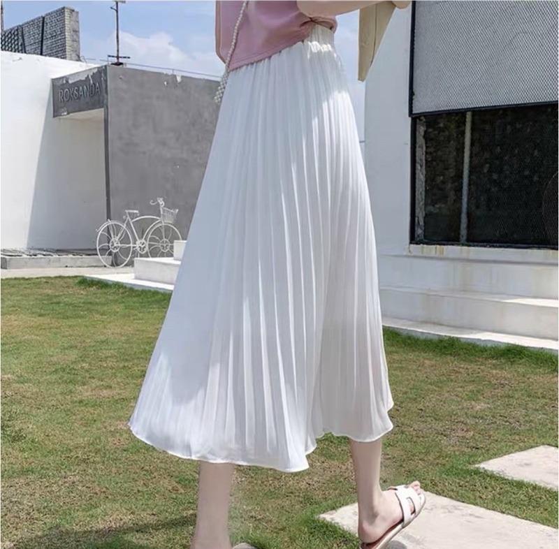 [HCM][Bán giá lẻ bằng sỉ] Chân váy xếp ly dáng dài siêu đẹp (hình thật + video)