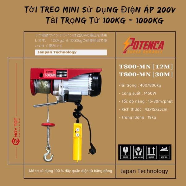 Máy Tời Điện T800- MN ( PA 800 )  loại 12M và 30M ( lõi đồng ) sẵn hàng sll hot hot!!!!