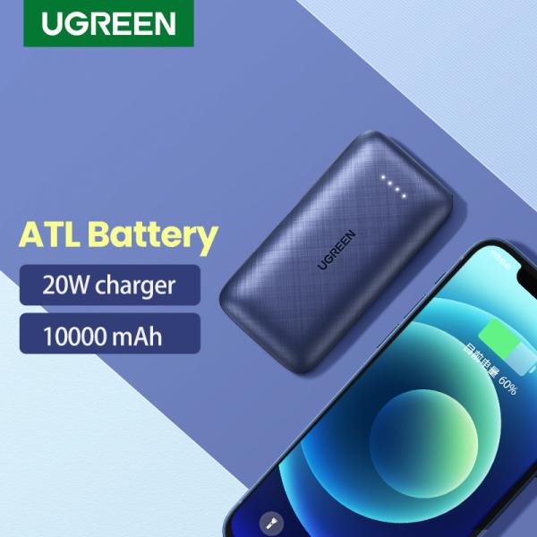UGREEN Portable Charger, 20W PD QC 3.0 Fast Charging Power Bank, Mini 10000mAh USB C External Battery Pack for iPhone 12 Mini X XR Pro Max Samsung Galaxy S21 S20 S10 iPad Pro Air
