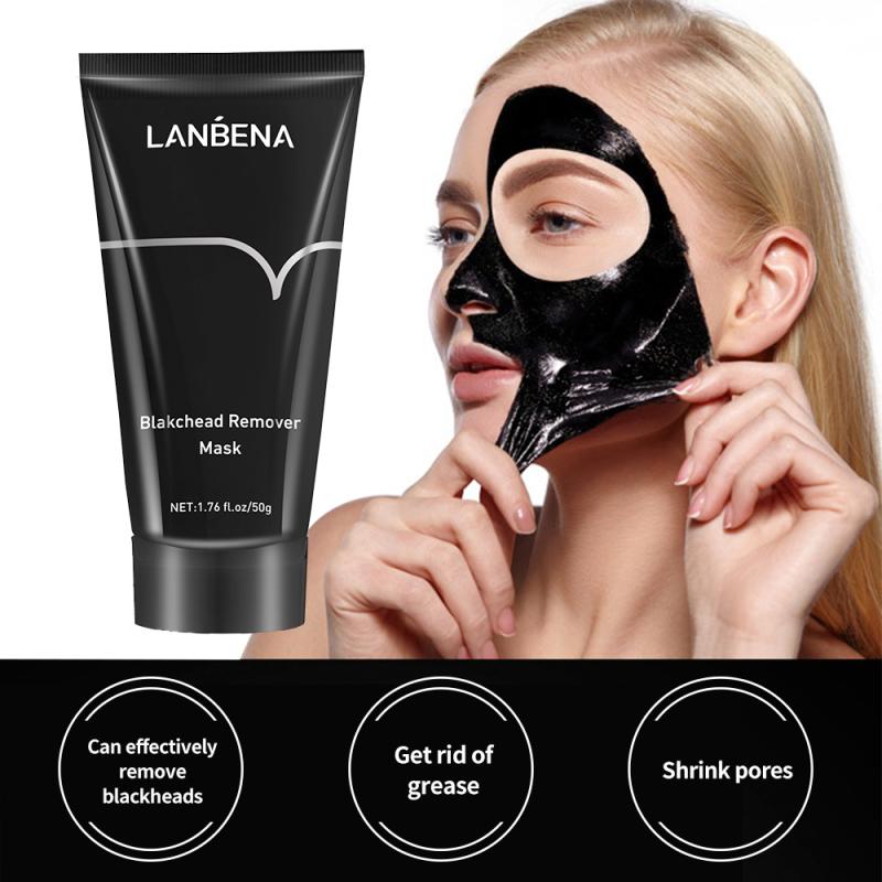 LANBENA Bamboo Blackhead Remover Nose Black Mask Face Care Peel Off Mask Pore Strip Skin Care Peel Mask Oil Control