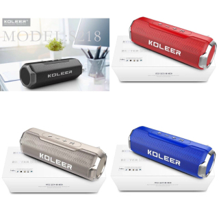 Loa bluetooth KOLEER S218 công suất 10W bass cực mạnh siêu hay - hỗ trợ thẻ nhớ USB AUX FM thumbnail
