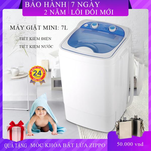 Bảng giá Máy giặt mini dung tich 7kg thùng đơn nắp trên bán tự động giặt tic UV diệt khuẩn giặt nhanh sạch không tốn diện tích trong nhà, Bảo hành 2 năm, lỗi đổi mới trong 7 ngày nếu có lỗi từ nhà sản xuất. Điện máy Pico
