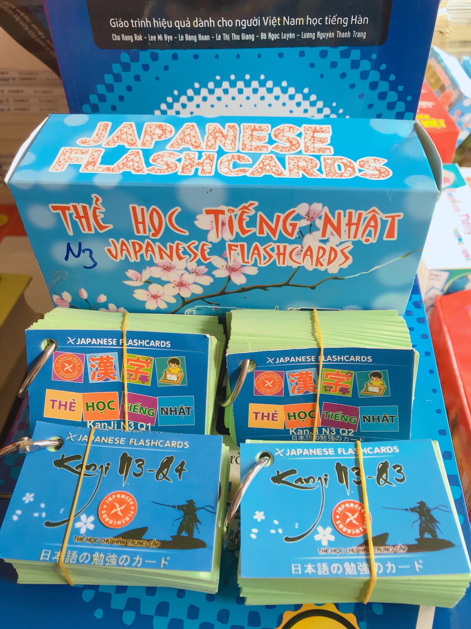 Thẻ Học Tiếng Nhật Kanji N3 - 4 Xấp Giá Cực Cool