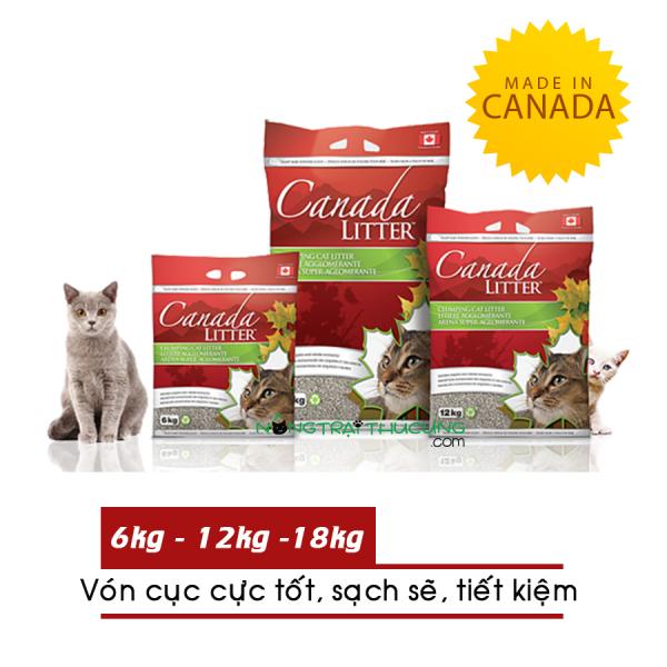 Cát vệ sinh cho mèo Canada Litter 6kg - [Nông Trại Thú Cưng]