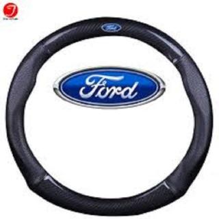 Bọc vô lăng, bọc tay lái, vỏ vô lăng, bọc da cao cấp chống trơn trượt vân Carbon 4S cao cấp logo FORD Mẫu mới phù hợp cho tất cả các dòng xe thumbnail