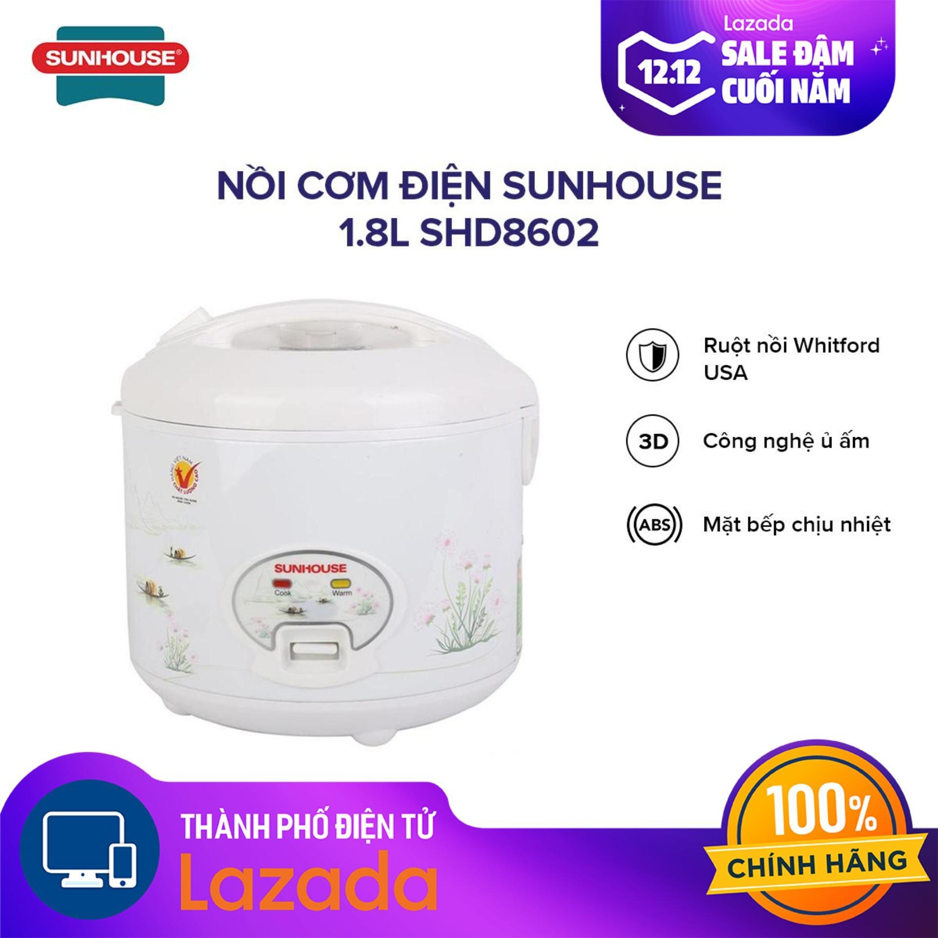 Nồi cơm điện Sunhouse 1.8L SHD8602