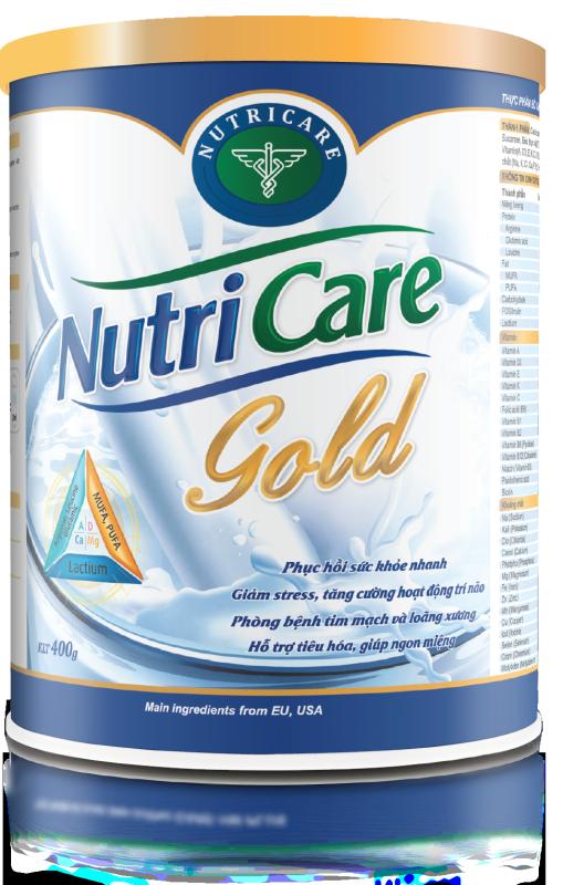 Sữa bột Nutricare Gold - dinh dưỡng phục hồi bồi bổ sức khoẻ (400g) cao cấp
