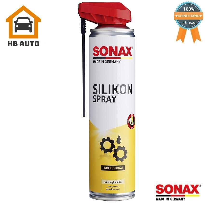 Chai Xịt Silicone Spray With EasySpray Sonax 348300 Nhật Bản
