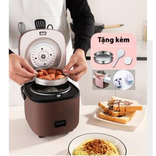 Nồi cơm điện mini đa năng Jiashi 1,2L cho 1-2 người ăn - Thiết kế nhỏ gọn, tinh tế, màu sắc đa dạng - Noi com dien mini có lòng nồi chống dính, có thể nấu cháo, hầm canh, làm bánh bông lan,....Hàng chính hãng bảo hành 6 tháng.