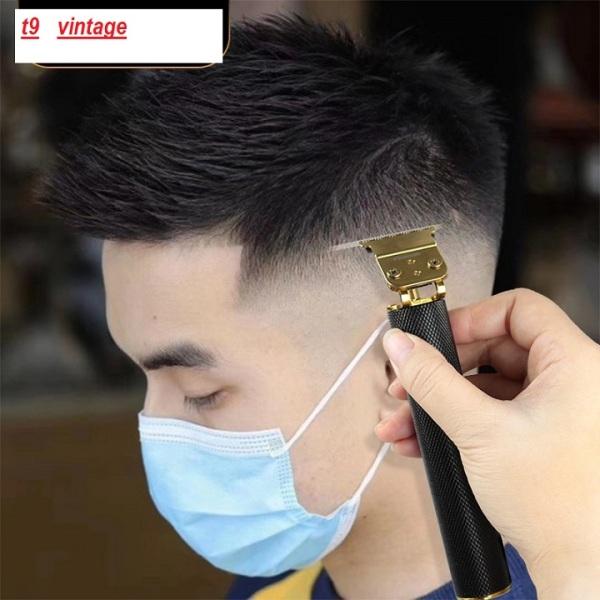 Tăng đơ tạo kiều tóc, Tông Đơ Chấn Viền VINTAGE T9 cao cấp salon và gia đình - công suất mạnh mẽ - có thể cắt tóc, chấn viền, Thời gian sử dụng 400 phút, bảo hành 12 tháng