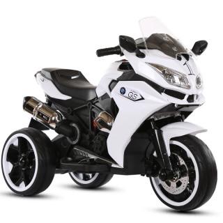 Xe máy điện moto 3 bánh NEL-GS1200 cho bé đồ chơi đạp ga bản thể thao (Đỏ-Trắng-Xanh) thumbnail