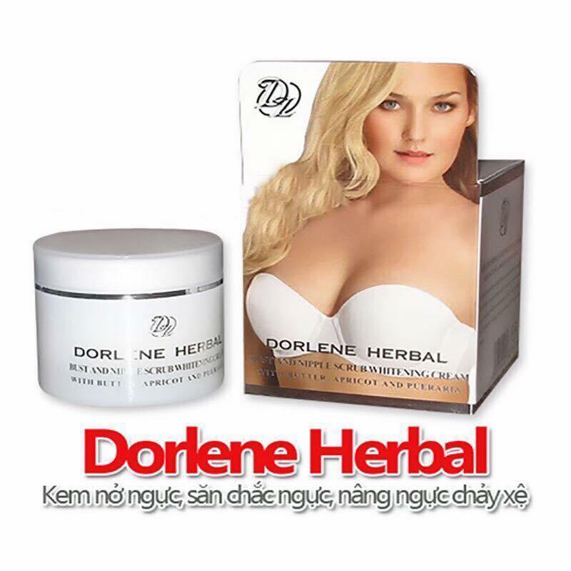 Kem nở ngực Dorlene Herbal Thái Lan có hạt masaage dành cho ngực làm săn chắc nâng ngực chảy xệ