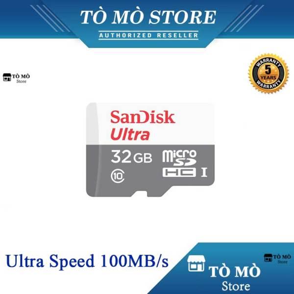 Thẻ nhớ MicroSDHC SanDisk Ultra 32GB 100MB/s - Bảo Hành 5 Năm