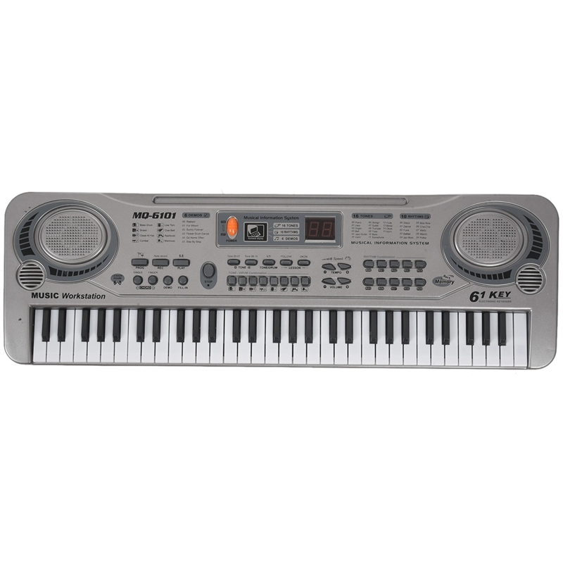 61-Key Keyboard Piano Piano Led Instrument Keyboard 21-Inch Music Education Double-Row Electronic Piano Children Beginner Electronic Keyboard Piano Eu Plug