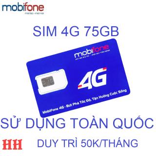 Sim 4G mobifone 75GB sử dụng toàn quốc duy trì 50K thumbnail