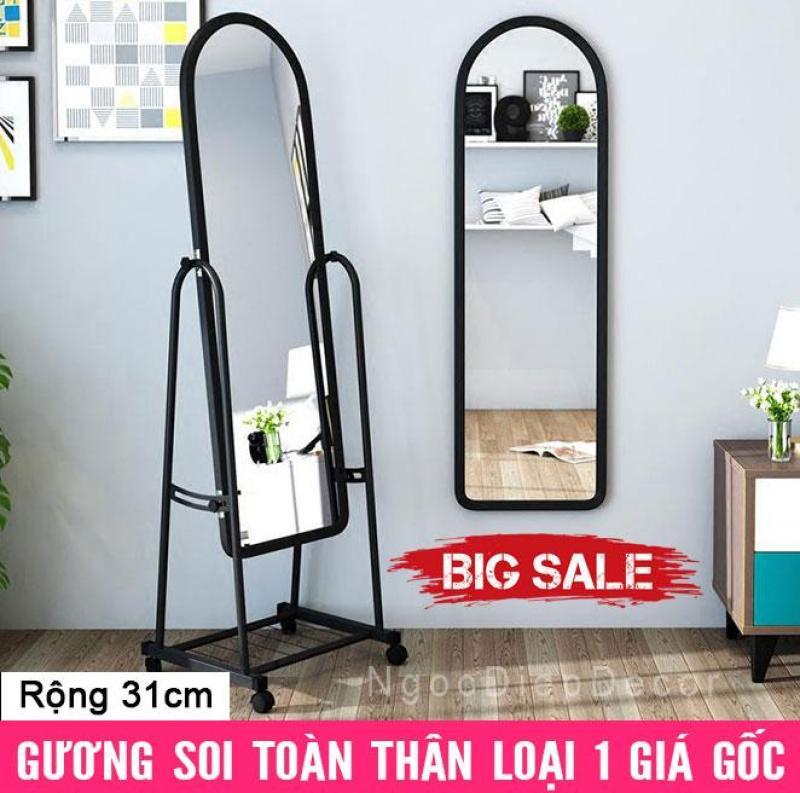 Gương Soi Di Động Toàn Thân Loại 1 - Thép Sơn Tĩnh Điện, Tháo Lắp Dễ Dàng - Rộng 31cm nhập khẩu