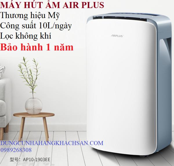 Máy hút ẩm thương hiệu của Mỹ Air Plus- Công suất cực lớn 10L/ngày- Hút ẩm mạnh mcho phòng đến 80m2-Bảo hành 1 năm