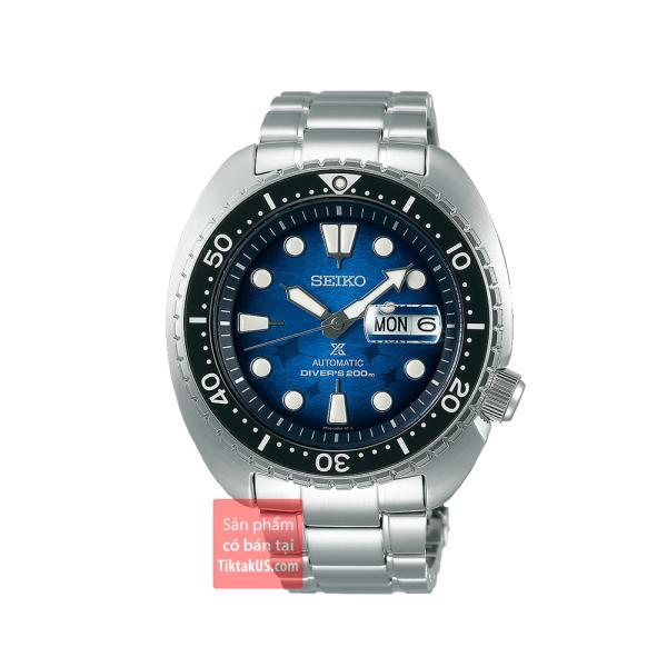 Đồng hồ thợ lặn SEIKO SRPE39K1 2020 King Turtle Manta Ray PROSPEX save the ocean Special Edition 2020 dây thép kính sapphire size 45mm chống nước 200m trữ cót 40 tiếng lên cót tay dạ quang