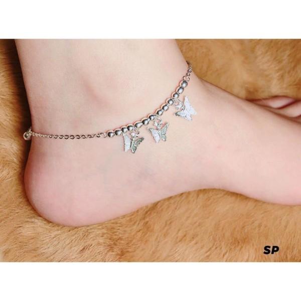 LẮC CHÂN BẠC TA TREO BƯỚM XINH XẮN - Chuyên sỉ trang sức bạc, cam kết giá tốt kèm bảo hành
