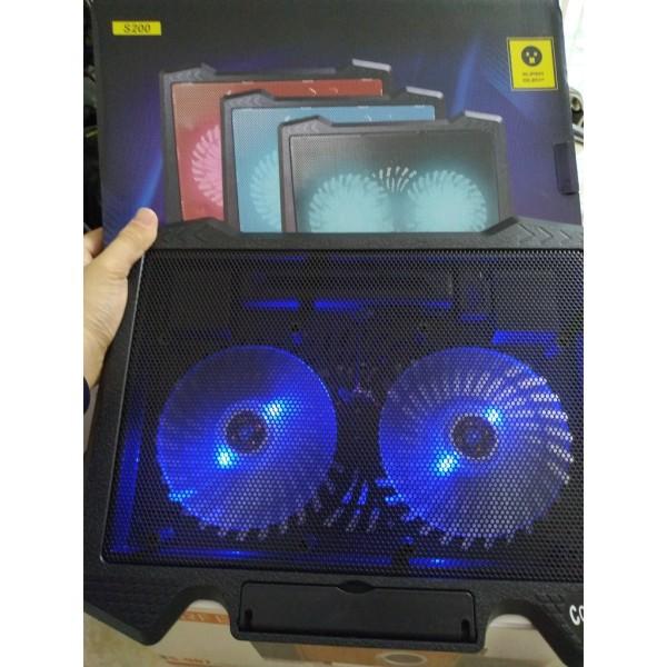 Bảng giá Đế Tản Nhiệt Laptop Cooler Pad S200 - Fan Notebook Cooler Pad S200n Led Siêu Bền Phong Vũ