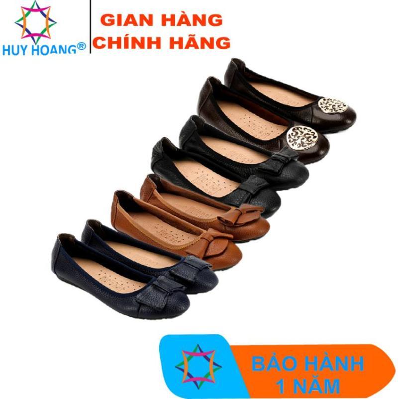Giày nữ búp bê Huy Hoàng da bò nhiều màu HK7905-06-07-08 giá rẻ