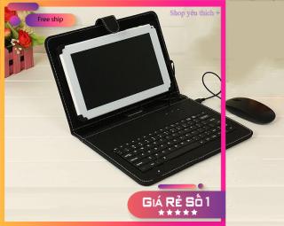 Bao da có bàn phím cho điện thoại - Bàn phím chơi game cho android - Ban phim cho dien thoai cam ung - Bao Da + Bàn Phím + Chuột Có Dây Cho SmartPhone Android - Bảo hành uy tín - H7F thumbnail