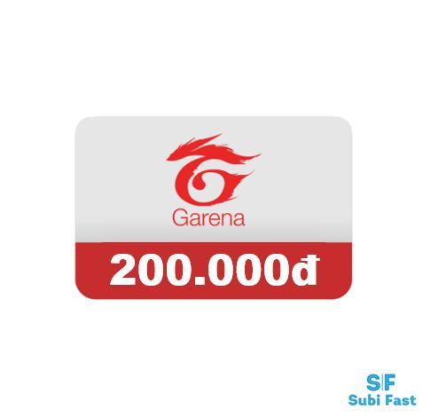 Thẻ Garena 200K - Nhận Mã Siêu Nhanh [sms] Uy Tín, ưu đãi Mỗi Ngày Giá Cực Ngầu