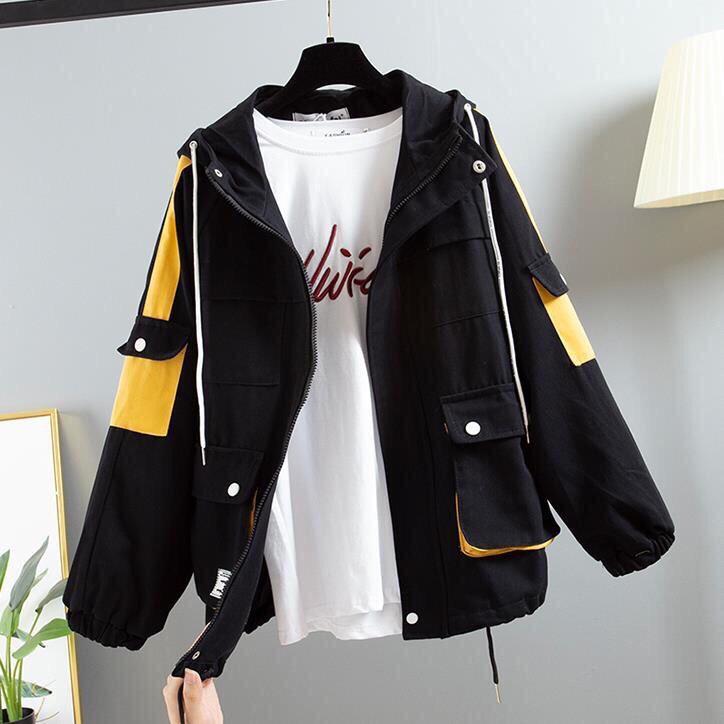 Áo khoác kaki nữ túi hộp phối màu mang đậm chất việt 2019