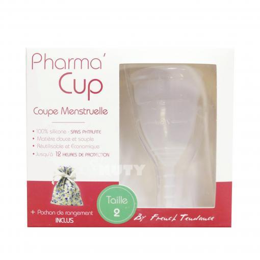 Cốc nguyệt san Pharma cup KÈM cốc tiệt trùng+túi vải nhập khẩu