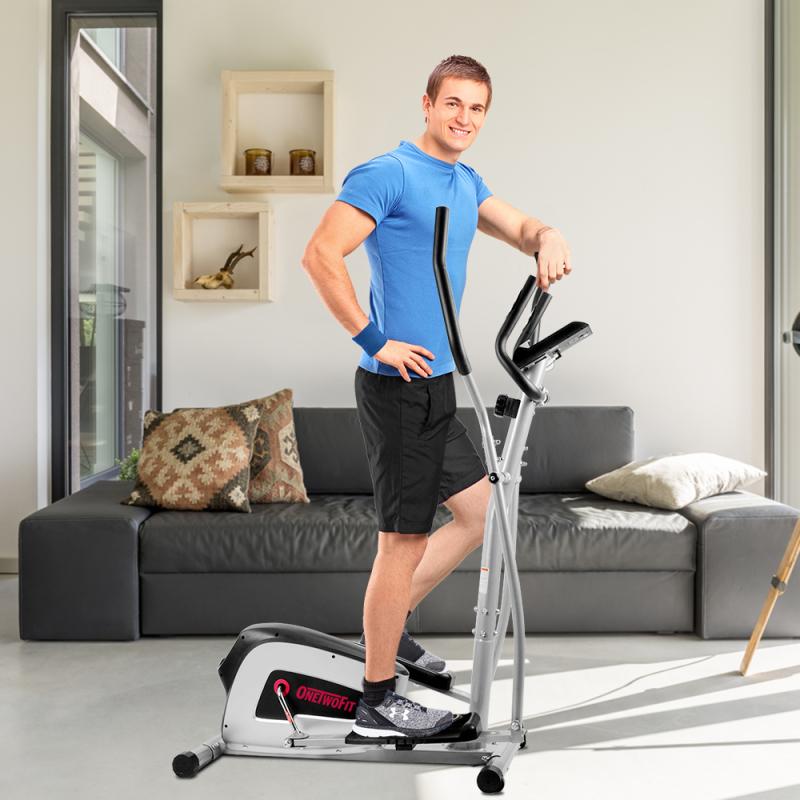 OneTwoFit Xe đạp tập chạy bộ Elliptical Thiết bị điều khiển từ tính Giảm cân cơ thể OT111