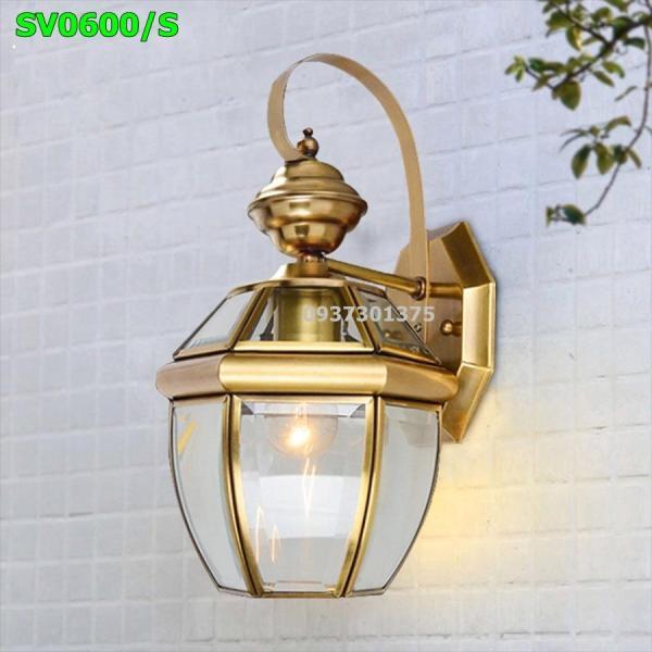 Đèn Tường Đồng Kính Cao Cấp Trang Trí Ngoại Thất Và Nội Thất SV0600 có kèm bóng đèn led
