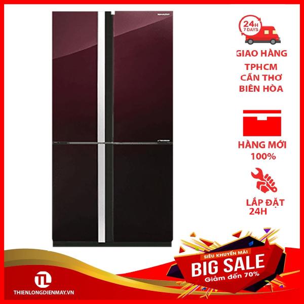 TRẢ GÓP 0% - Tủ lạnh Sharp Inverter 678 lít SJ-FX688VG-RD - Bảo hành 12 tháng