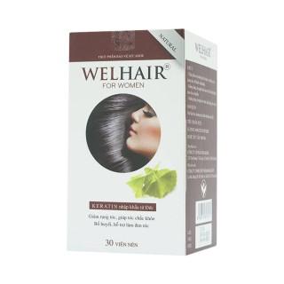 Welhair for Women - Hỗ trợ làm đen tóc, giúp tóc chắc khỏe thumbnail