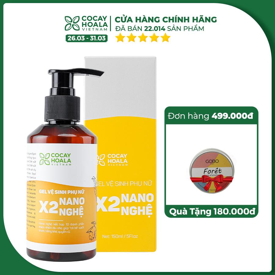 Dung dịch vệ sinh phụ nữ sạch bay Viêm Ngứa X2 Nano Nghệ Cocayhoala 150ml