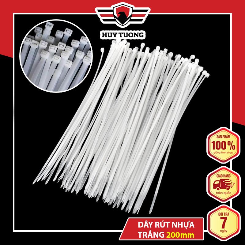 Dây rút nhựa 200mm ( 70 - 80 dây ), cột hàng chịu được nhiệt độ lên tới 80 độ C và âm 10 độ C - Huy Tưởng