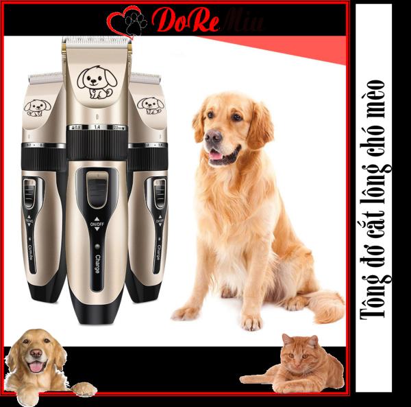 Doremiu- Tông đơ cắt lông chó mèo USB6800 máy cắt tỉa lông cho thú cưng cho gia đình