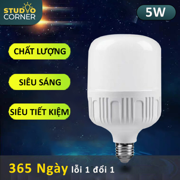[HCM]Bóng đèn Led hình trụ búp tiết kiệm điện đuôi vít xoắn ốc E27 công suất 5W-10W-15W-20W-30W-40W-50W ánh sáng trắng tuổi thọ cao không nhấp nháy không tia UV nhà trọ gia đình văn phòng-DBT