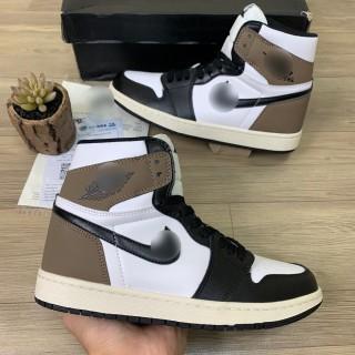 Giày Sneaker Jordan 1 Nâu Cao Cổ, Giày JD1 Gót Nâu Cao Cổ Nam Nữ mới thumbnail