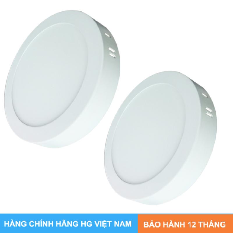 Bộ 2 mâm nổi ốp trần 18w tròn ánh sáng trắng