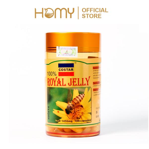 Sữa Ong Chúa Royal Jelly Soft Gel Capsules 1450mg 100 viên nhập khẩu