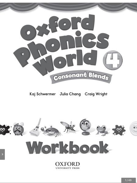 Bảng giá Sách tương tác Phonics world 4 gồm classbook và workbook học phát âm tiếng anh Phong Vũ