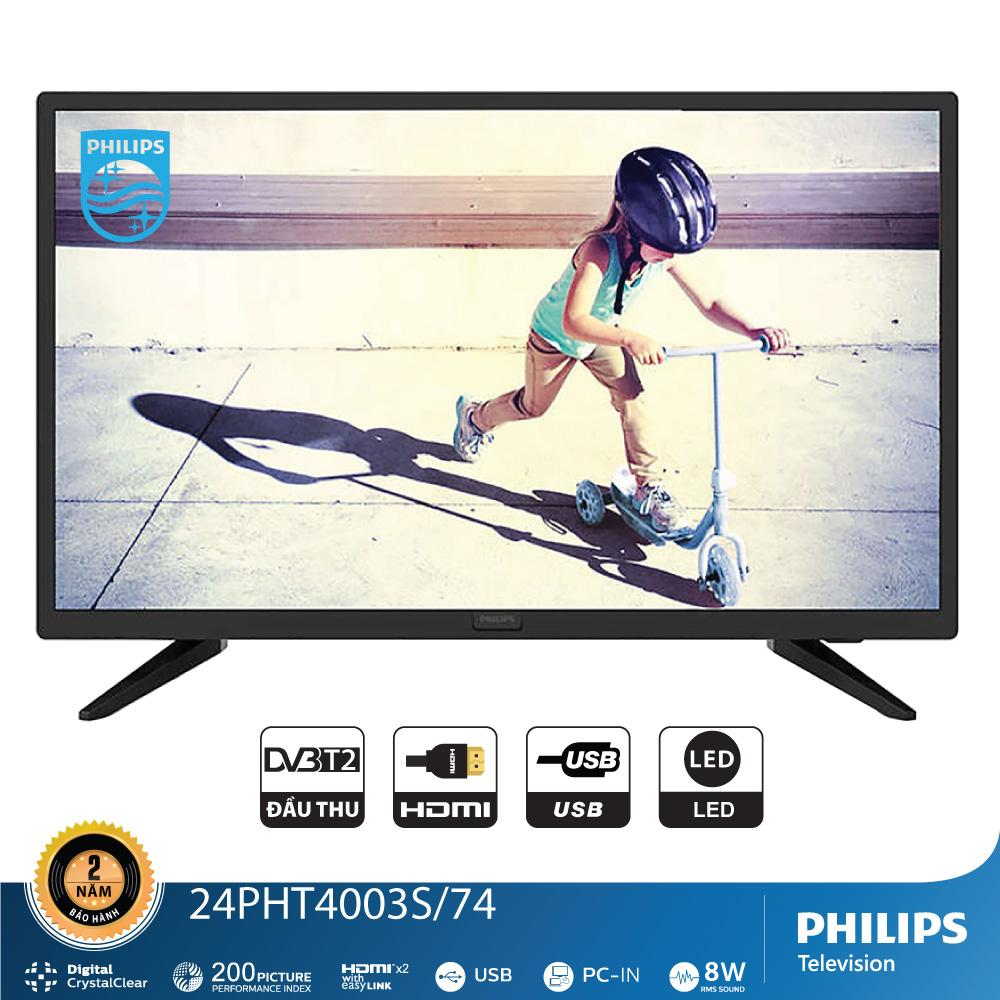 Bảng giá TIVI PHILIPS LED HD 24 INCH 24PHT4003S/74